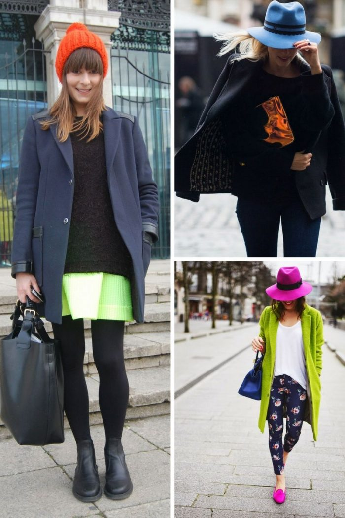 Bright Accessories On Women's Neutral Clothes 2019