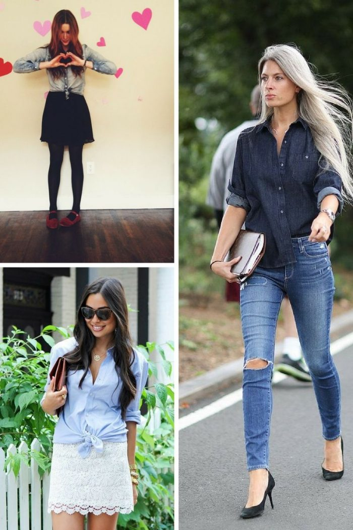2018 Chambray Shirts For Women (10)