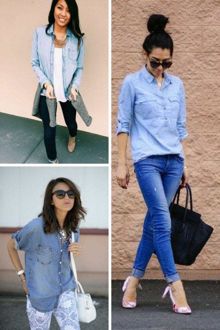 2018 Chambray Shirts For Women (5)