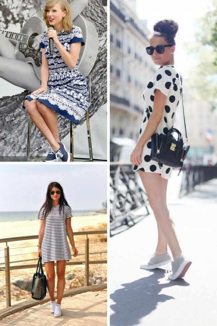 Sneakers with Dresses 2019