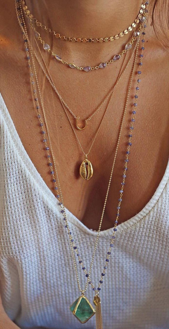 charm layering pendant necklaces moon crescent mini forever tooth trend penny longline layer spike necklace