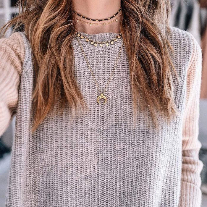 2018 Layered Necklace Trend For Women (7)