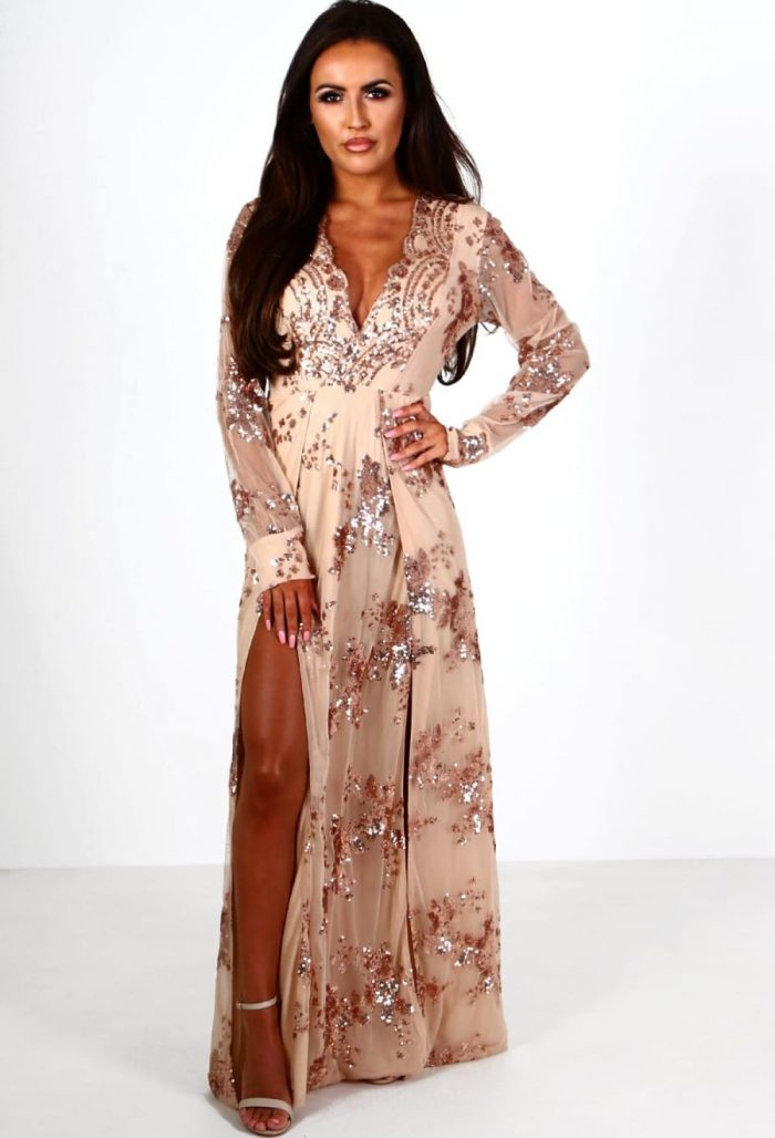 2018 Long Sleeve Maxi Dresses (10)