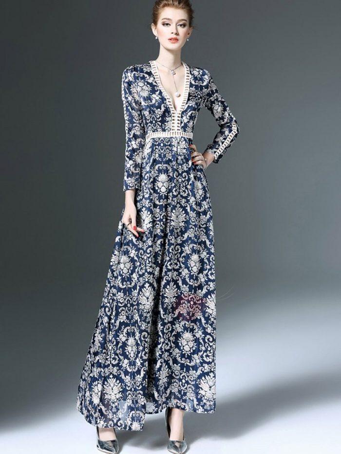 2018 Long Sleeve Maxi Dresses (7)