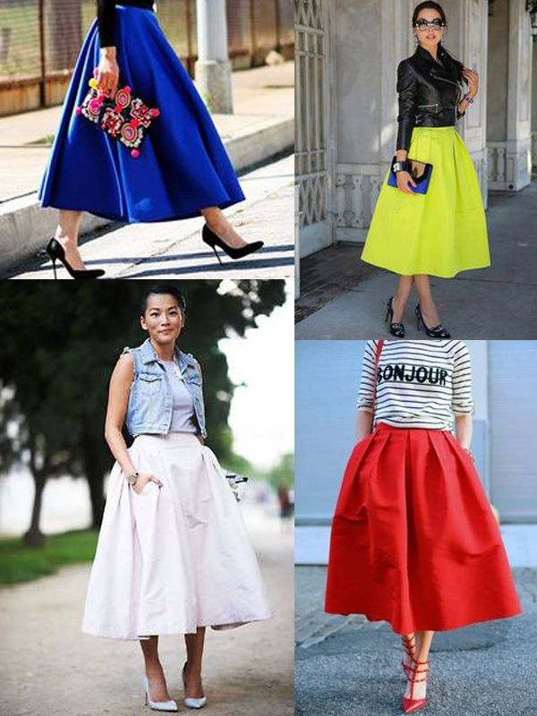 Midi Length Skirts And Dresses 2019