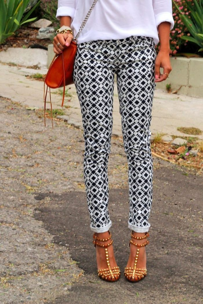Patterned Ankle Pants For Women 2019
