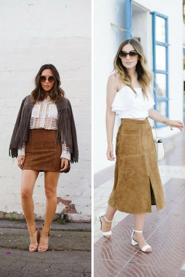 Suede Skirts To Try Now 2019