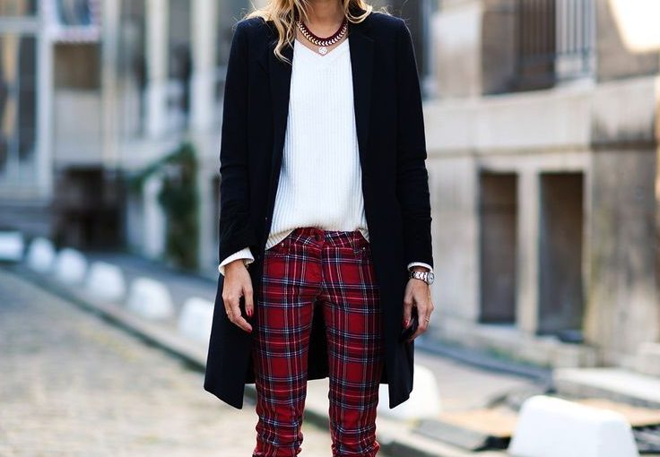 2018 Tartan Print Clothes For Women (1)