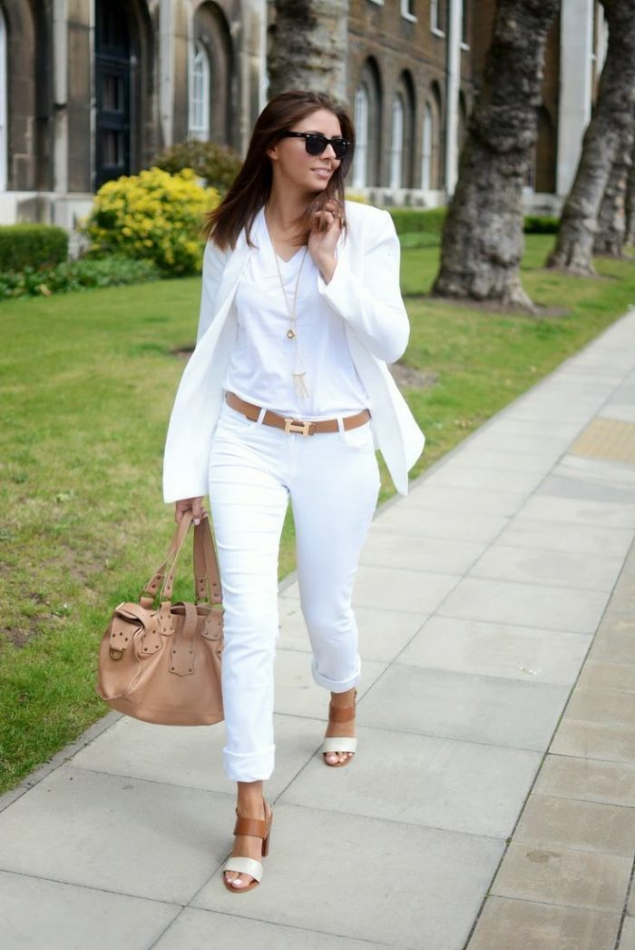 2018 White Skinny Jeans For Women (1)