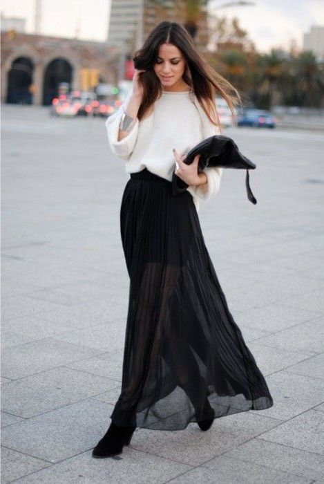 Black Clothes With Other Colors For Women 2018 (16)