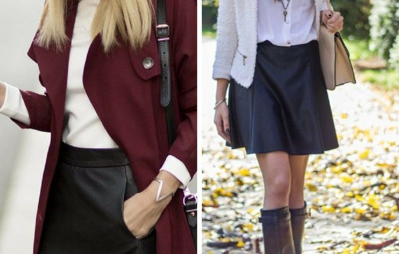 Black Leather Skirts To Work And On The Streets