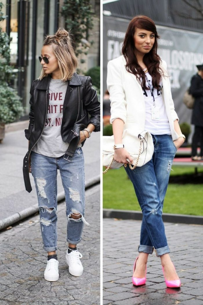 Boyfriend Jeans For Women 2018 Simple Street Walks (1)