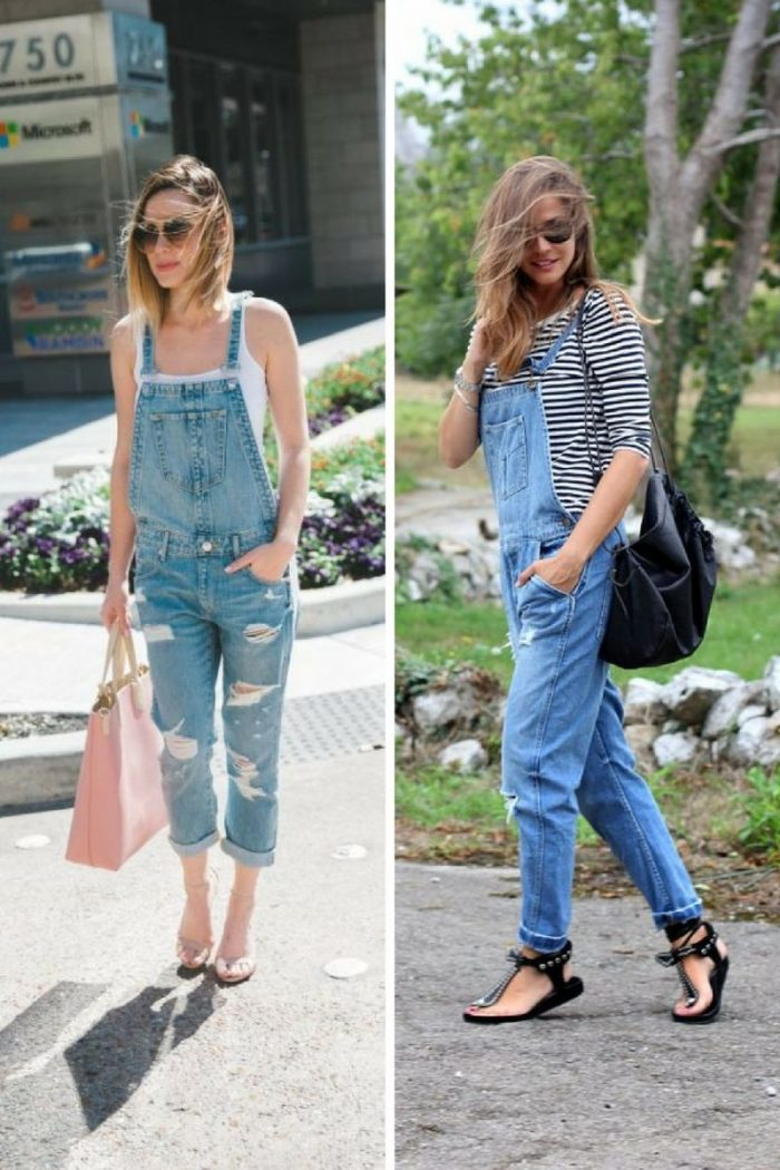 Denim Overalls 2018 Street Style Ideas (7)