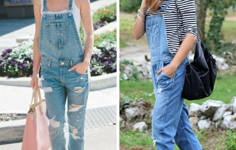 Denim Overalls 2018 Street Style Ideas (7)