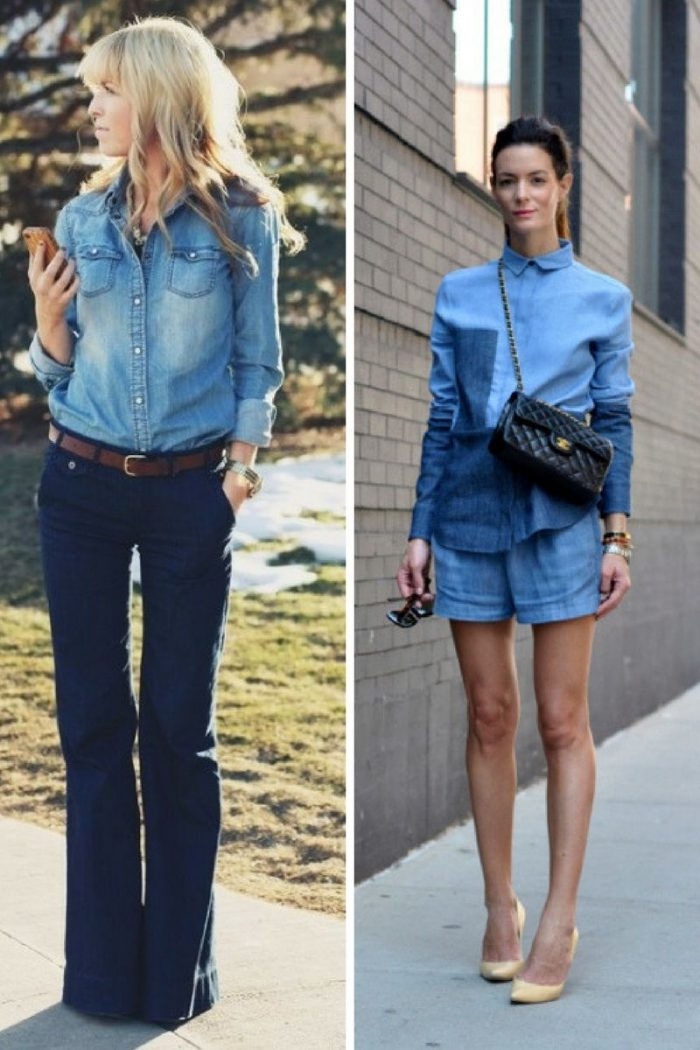 Double Denim Trend For Women 2018 (1)