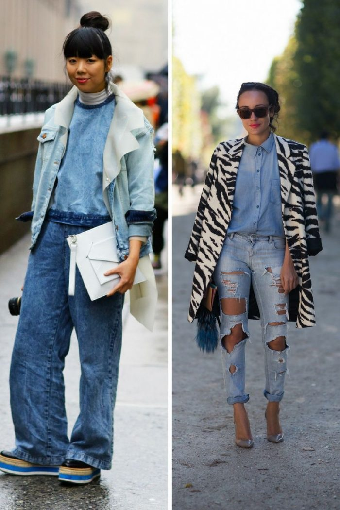 Double Denim Trend For Women 2018 (13)