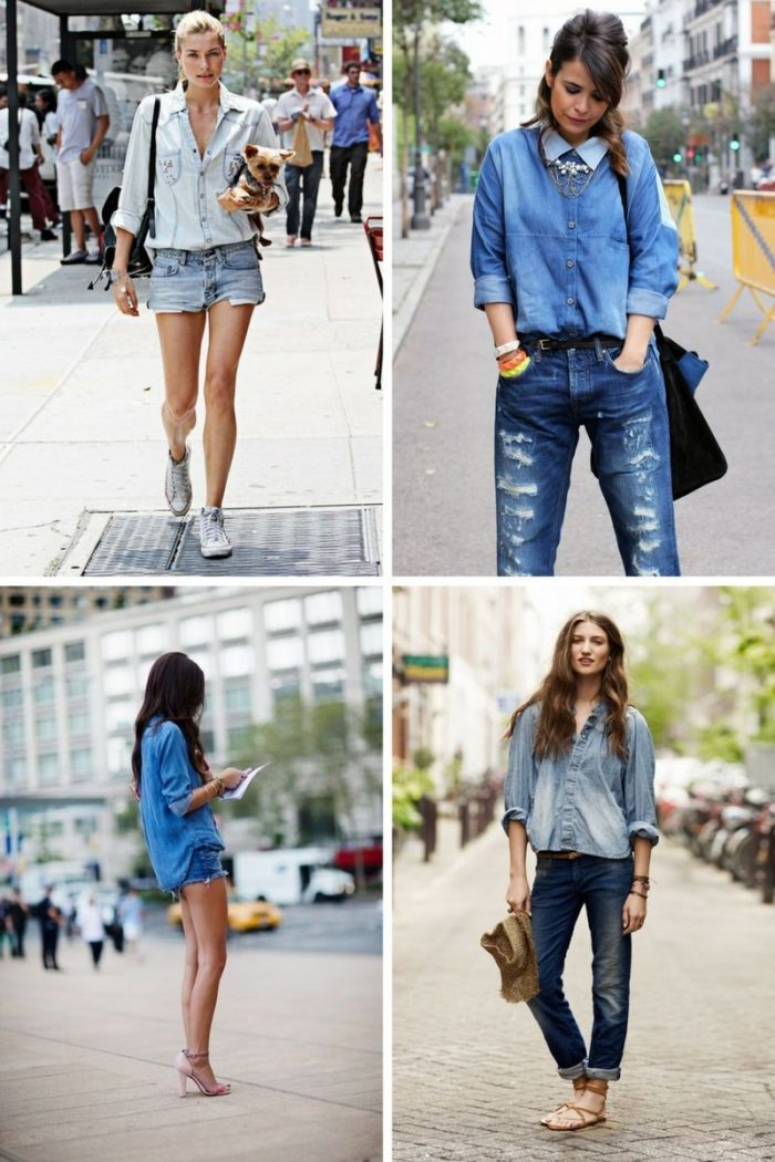 Double Denim Trend For Women 2018 (5)