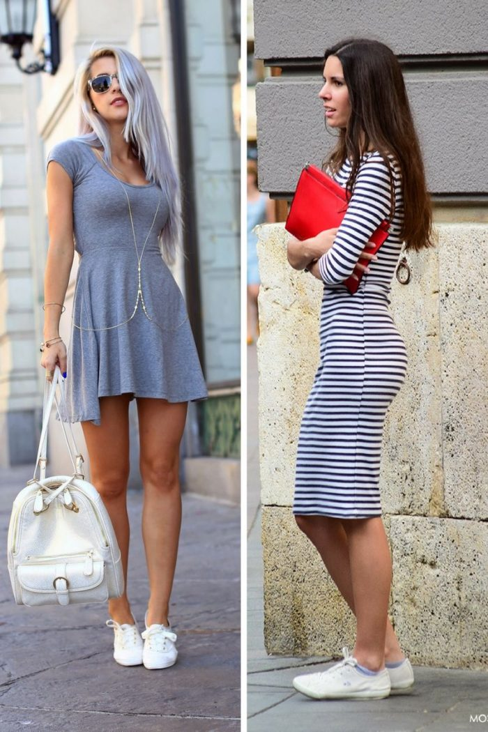 Dresses With Sneakers To Try This Summer 2018 (1)