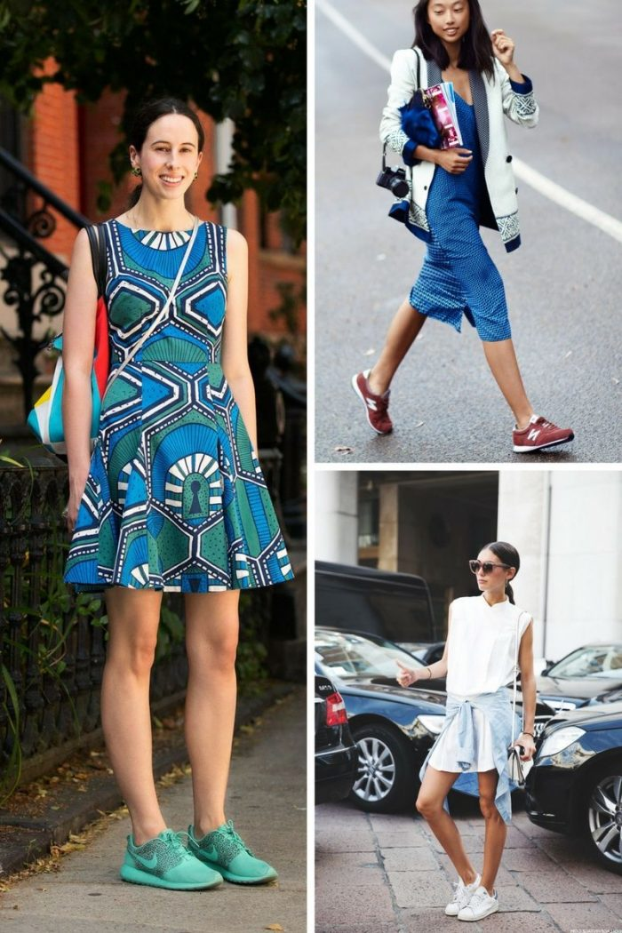 Dresses With Sneakers To Try This Summer 2018 (6)