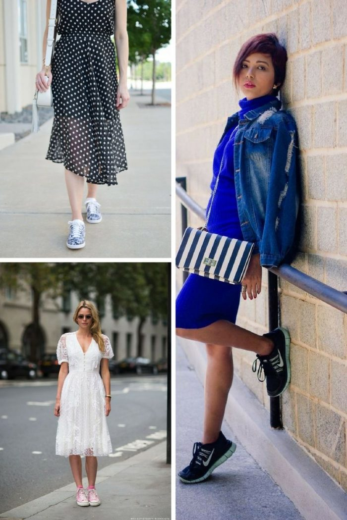 Dresses With Sneakers To Try This Summer 2018 (8)