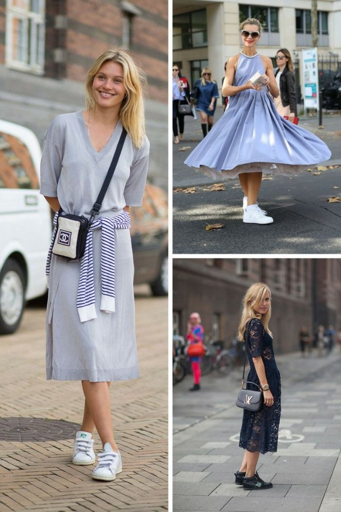 Dresses With Sneakers To Try This Summer 2018 (9)