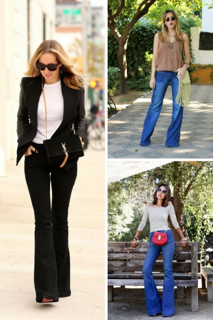 Flared Jeans 2018 Best Street Style Looks (2)