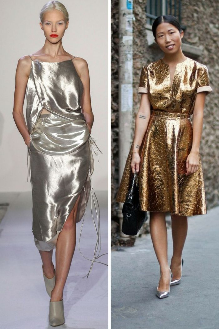 Metallic Clothes And Accessories Trend 2018 (1)