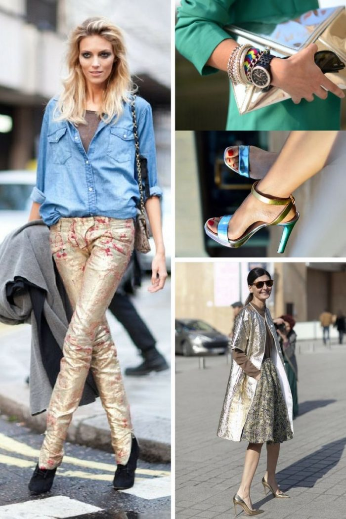 Metallic Clothes And Accessories Trend 2018 (3)