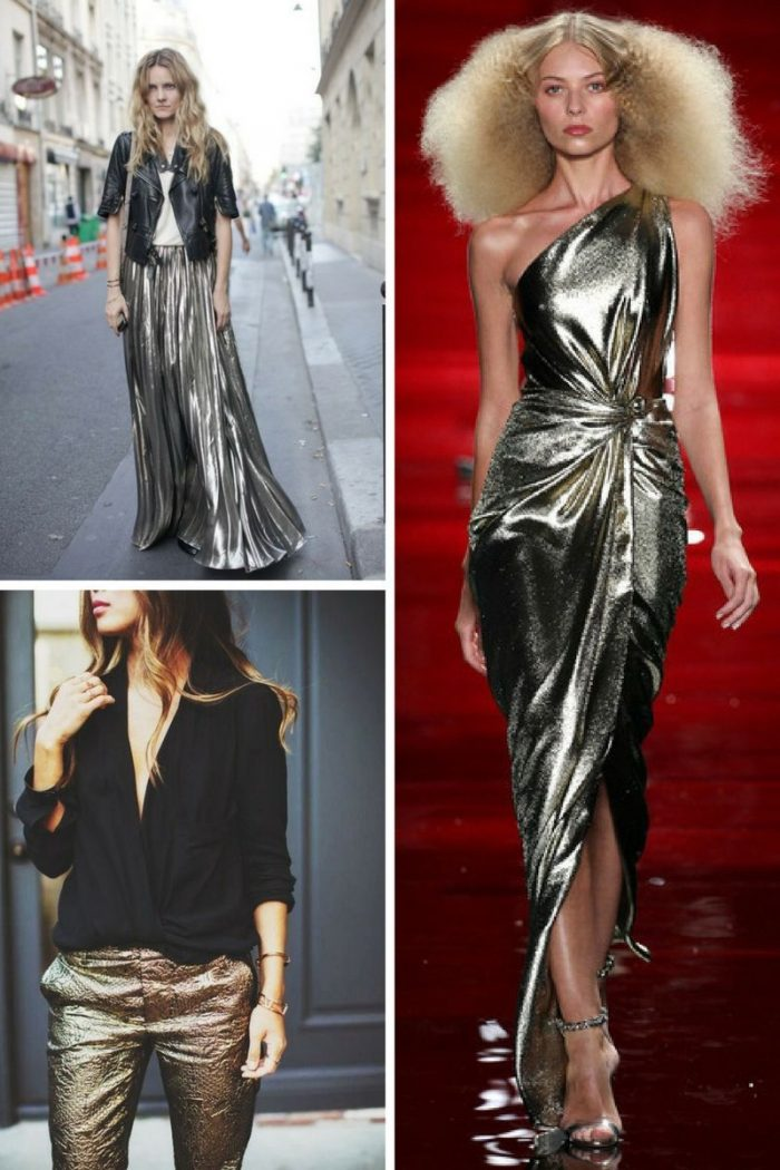 Metallic Clothes And Accessories Trend 2018 (4)