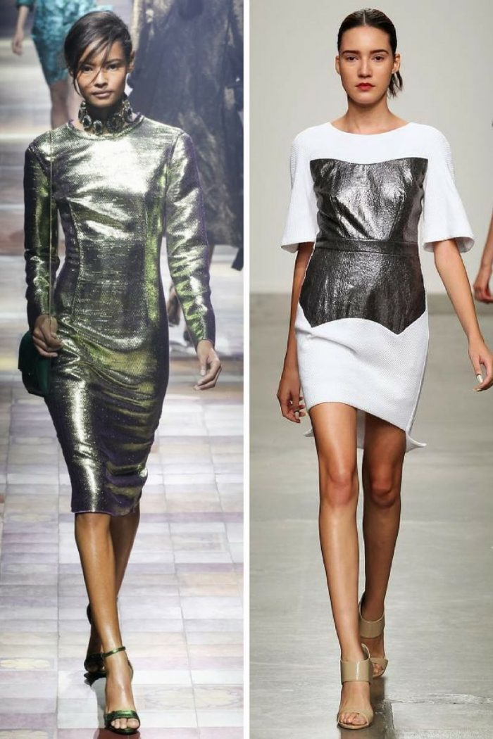 Metallic Clothes And Accessories Trend 2018 (8)