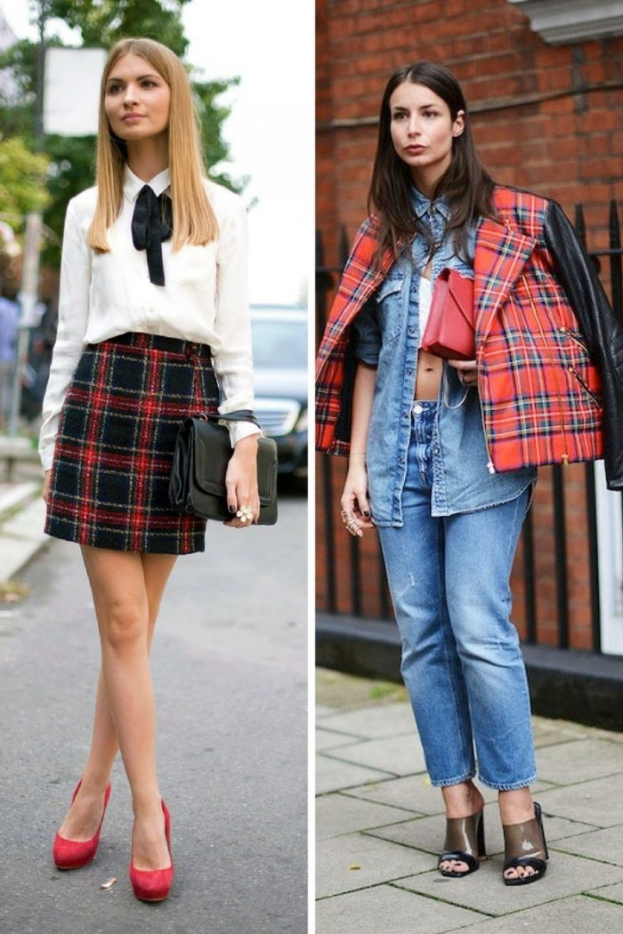 Plaid And Tartan Attire For Women 2018 (11)