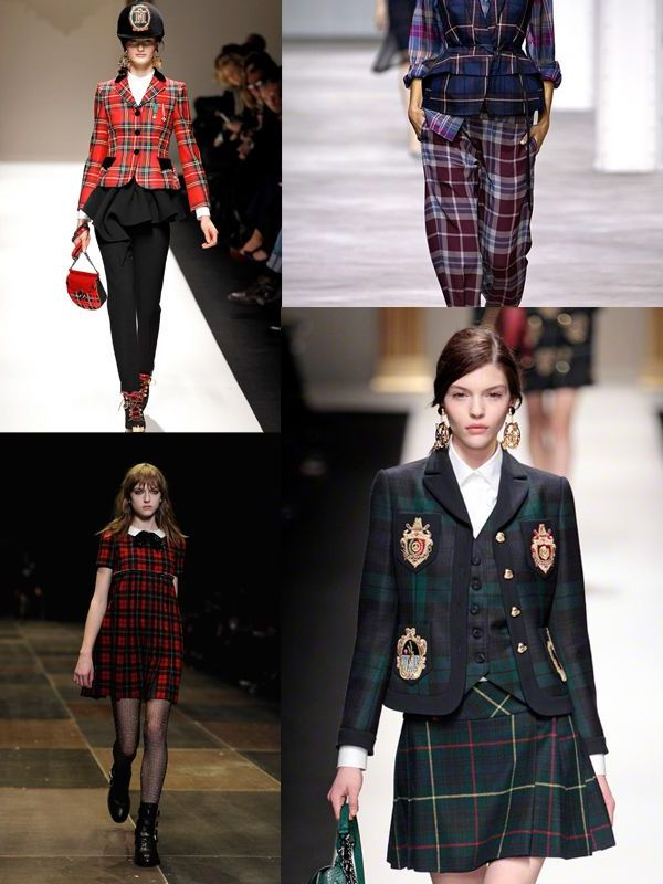 Plaid And Tartan Attire For Women 2018 (15)