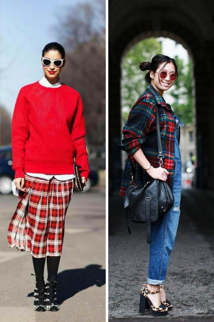 Plaid And Tartan Attire For Women 2018 (6)