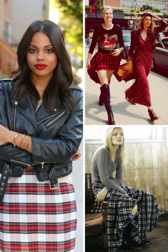 Plaid Skirts 2018 Simple Street Style (10)