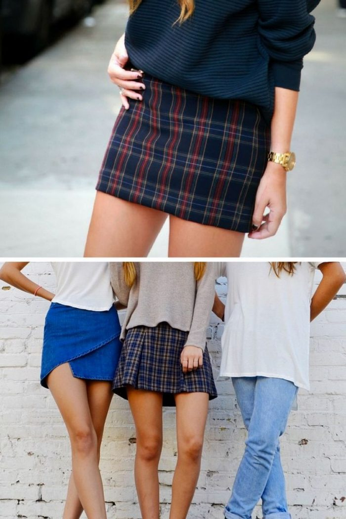 Plaid Skirts 2018 Simple Street Style (13)