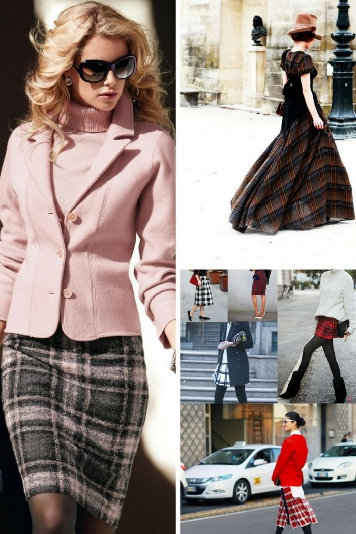Plaid Skirts 2018 Simple Street Style (3)