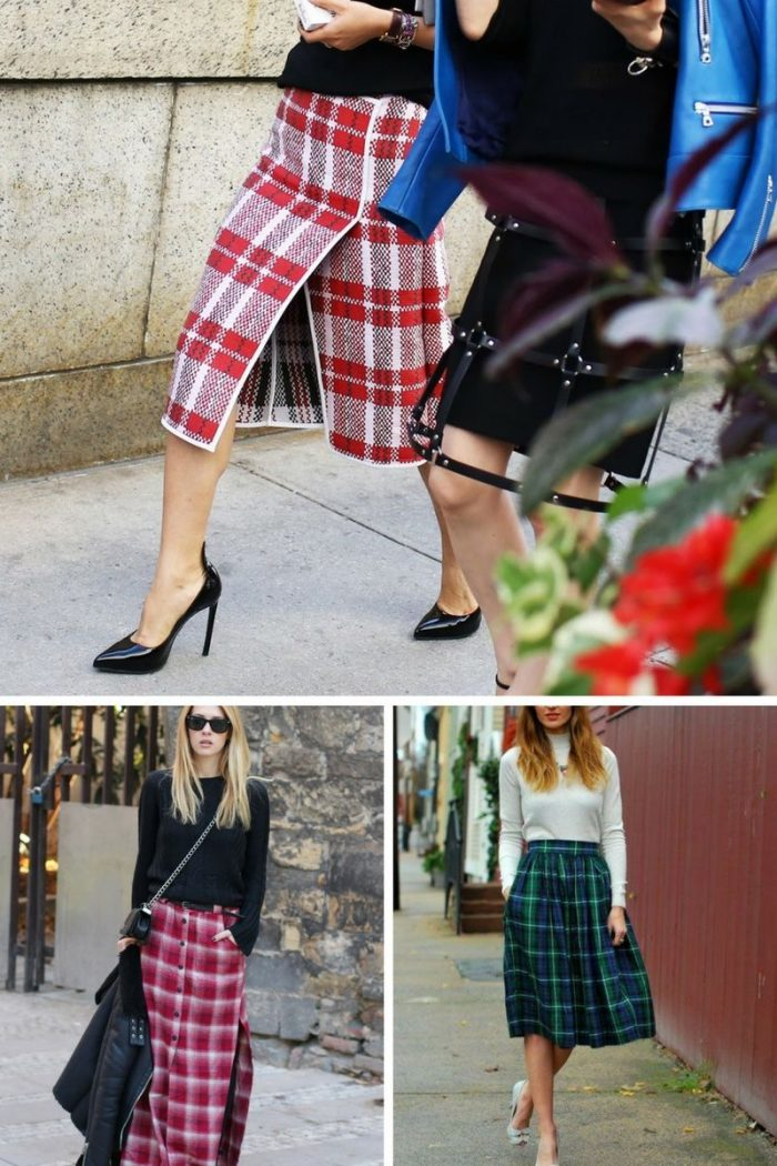 Plaid Skirts 2018 Simple Street Style (9)