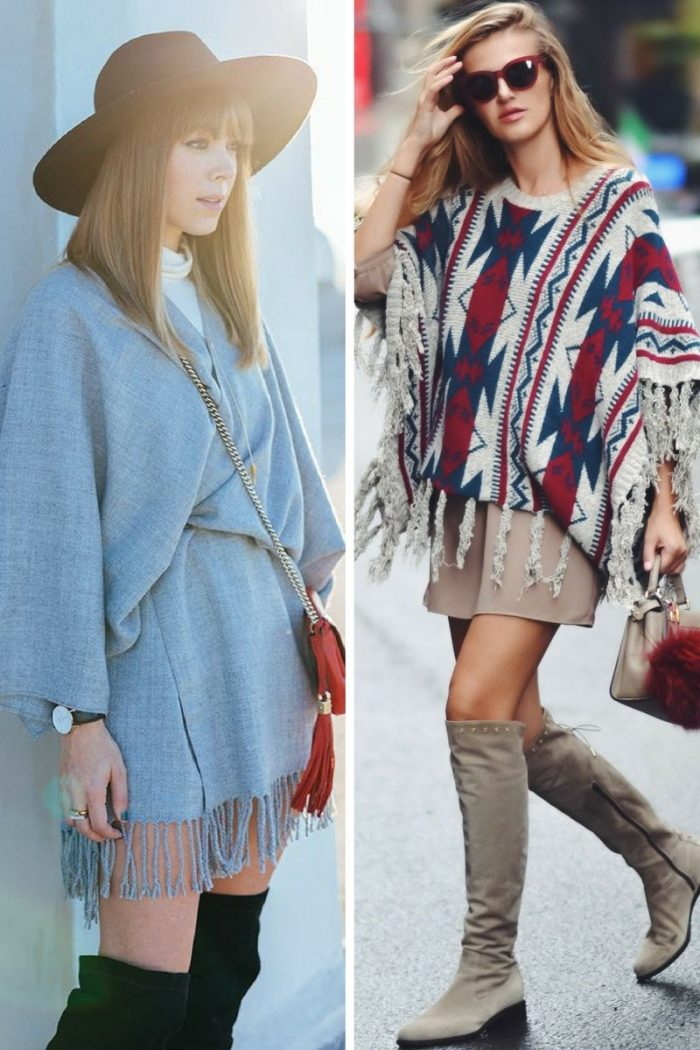 Ponchos For Women Winter 2018 (10)