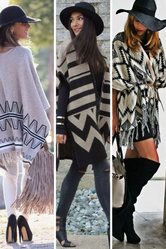 Ponchos For Women Winter 2018 (13)
