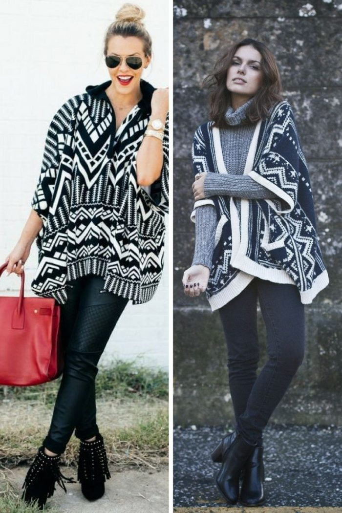 Ponchos For Women Winter 2018 (14)