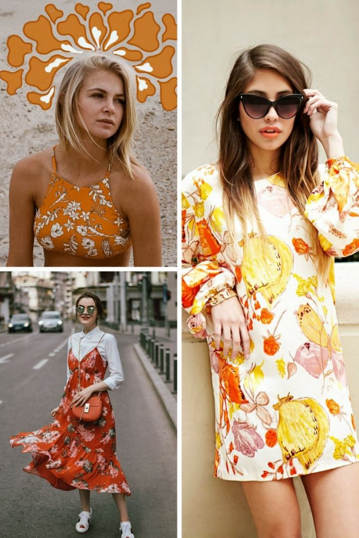 Retro Florals Print Trend For Women 2020