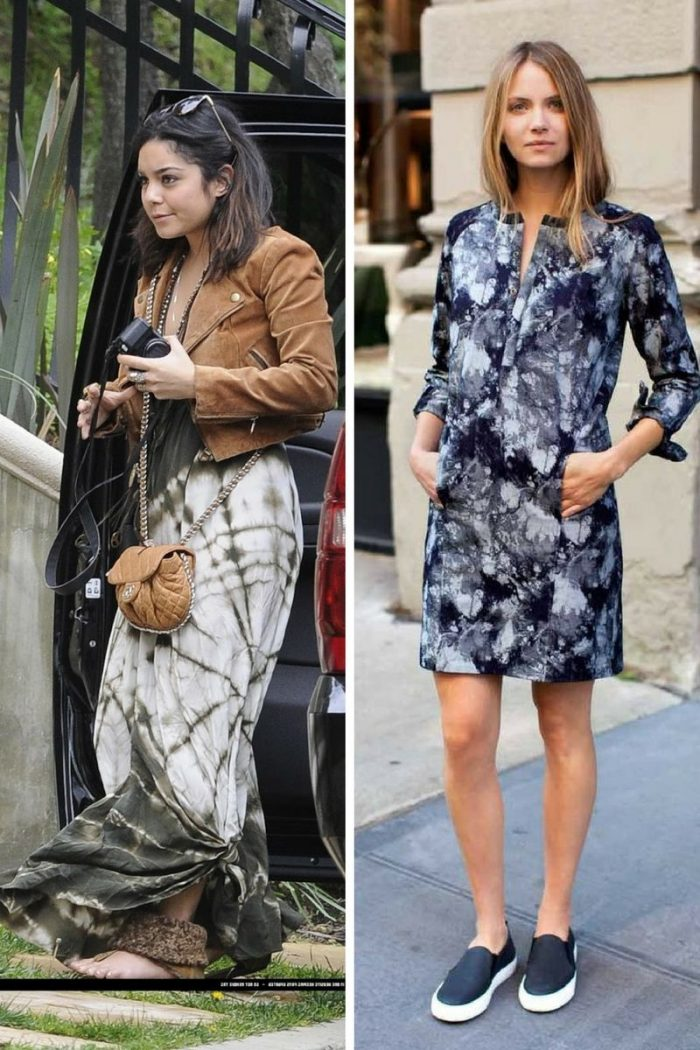 Tie Dye Dresses For Street Walks 2019