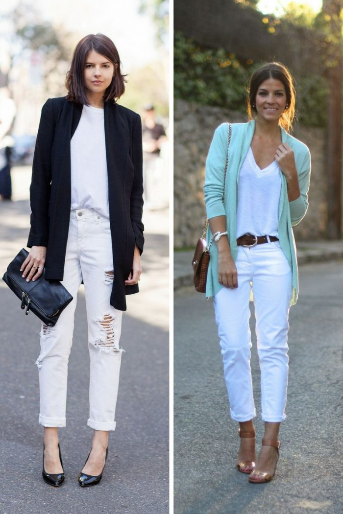 White Jeans For Women 2018 Summer Street Looks (6)