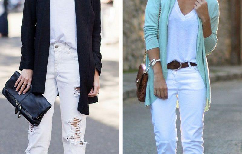 White Jeans For Women 2018 Summer Street Looks (6)