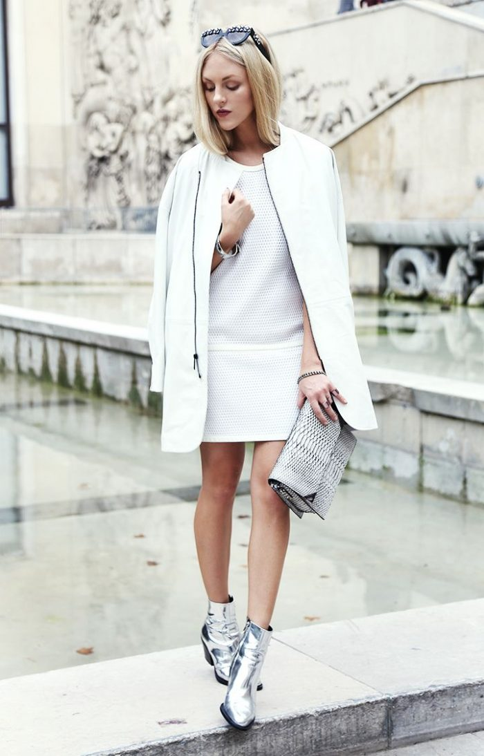 White On White Clothing Combinations For Women 2018 (1)