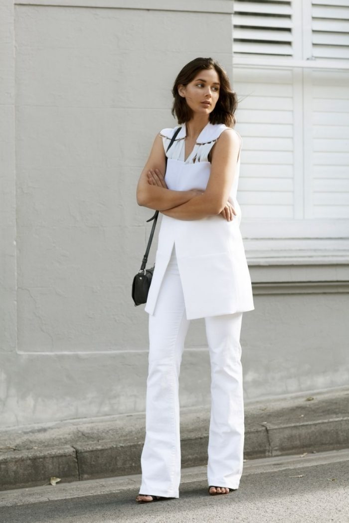 White On White Clothing Combinations For Women 2018 (14)