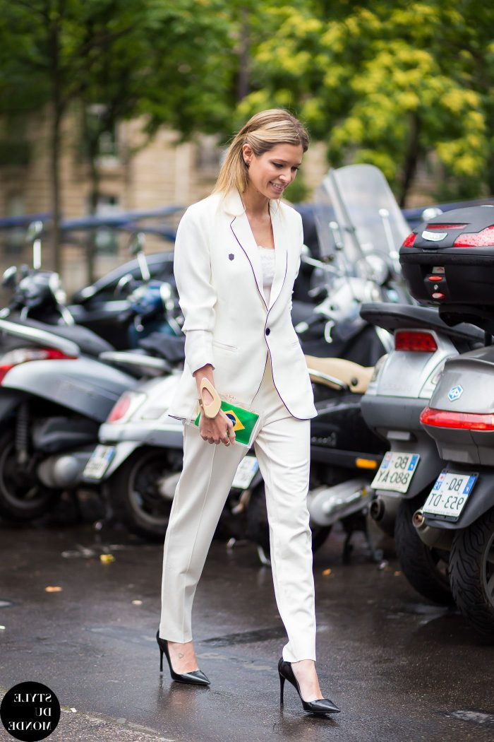 White On White Clothing Combinations For Women 2018 (18)