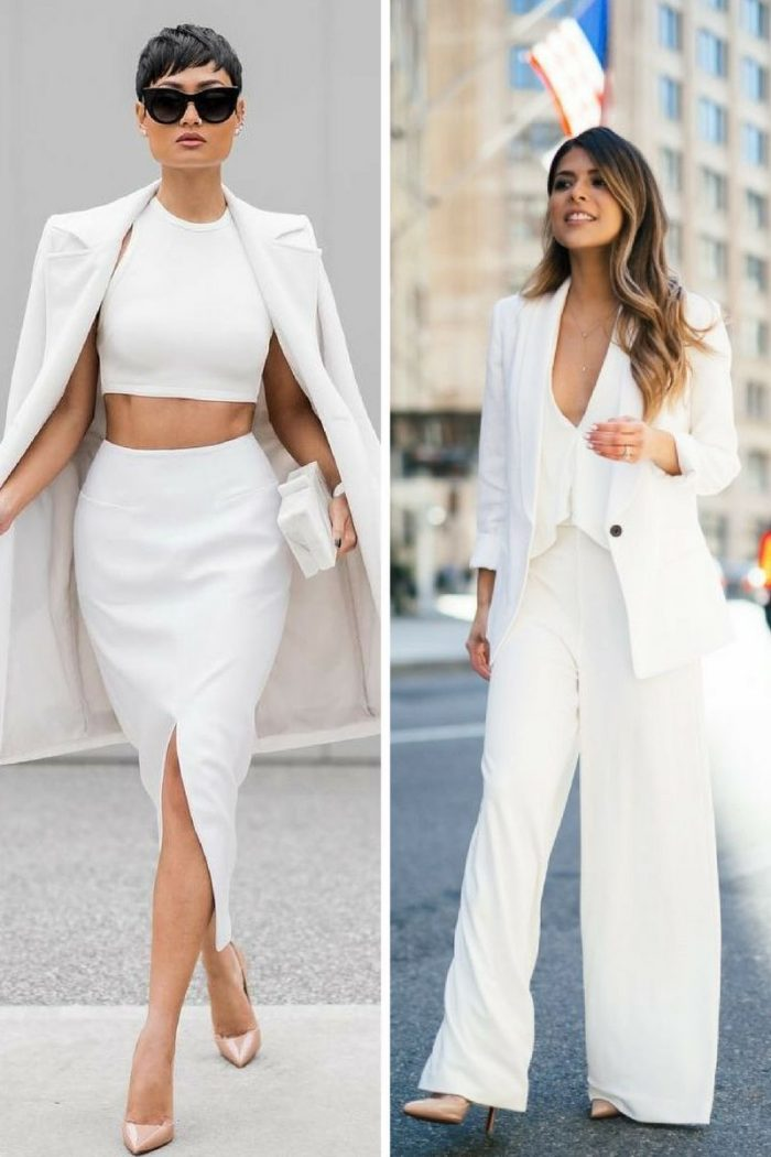 White On White Clothing Combinations For Women 2018 (24)