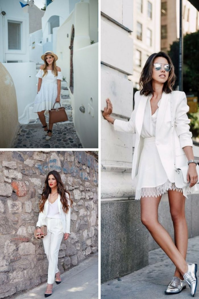 White On White Clothing Combinations For Women 2018 (26)
