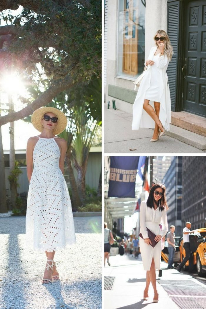 White On White Clothing Combinations For Women 2018 (28)